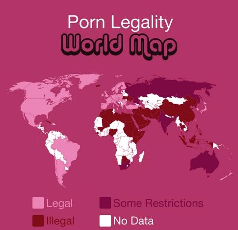 Mapa del porno mundial 1